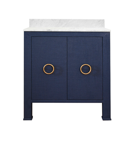 Linen, Brass, Marble blue and gold vanity