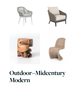 Our Curated Designer mid-century modern outdoor patio furniture