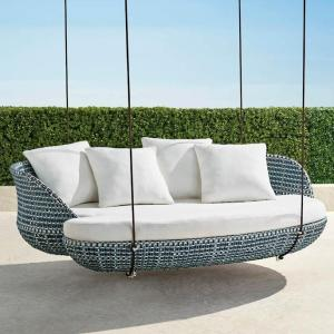 Malia Hanging Daybed in Ocean Finish
