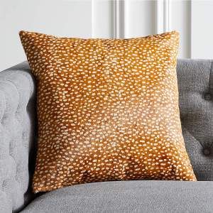 """18"""" HADLEY HAIR ON HIDE PILLOW WITH FEATHER-DOWN INSERT"""