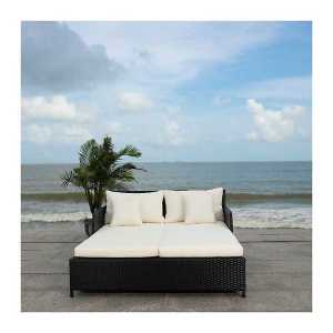 Black Wicker Outdoor Daybed
