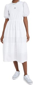 English Factory Women's Pleated Detail Dress