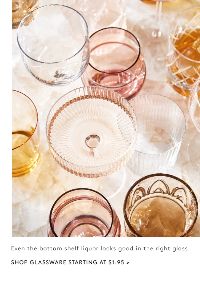 OLD FASHIONED DRINKING GLASSES IN COLORS