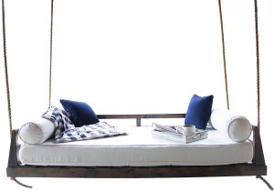 Piper Porch Swing Bed (Swing Size - Twin, Tobacco Finish)