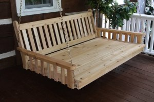 Pine 6' Traditional English Swingbed, Unfinished