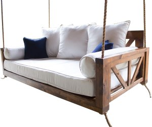 Avery Porch Swing Bed (Swing Size - Twin, Tuscany Finish)