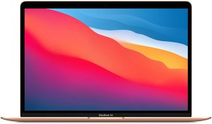 """2020 Apple MacBook Air Laptop: Apple M1 Chip, 13"""" Retina Display, 8GB RAM, 256GB SSD Storage, Backlit Keyboard, FaceTime HD Camera, Touch ID. Works with iPhone/iPad; Gold"""