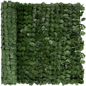 Best Choice Products Outdoor Garden 94x39-inch Artificial Faux Ivy Hedge Leaf and Vine Privacy Fence Wall Screen - Green