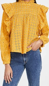 Scotch & Soda Women's Cotton Broderie Anglaise Top