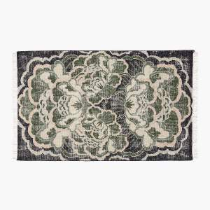 ALLURE GREEN HAND-KNOTTED RUG 5'X8'