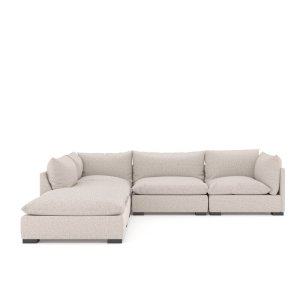 """Atelier 117"""" Wide Left Hand Facing Corner Sectional with Ottoman"""