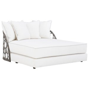 Bali 57'' Wide Outdoor Wicker Patio Daybed