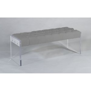 Block Tufted Bench
