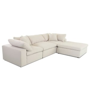 """Celestia 133"""" Reversible Sectional with Ottoman"""