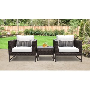 Consuelo Resin Wicker 2 Person Seating Group