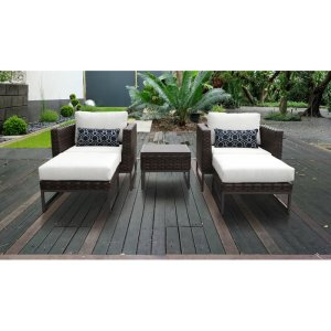 Consuelo Resin Wicker 4 Person Seating Group