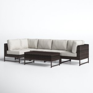 Consuelo Wicker 4 Person Seating Group