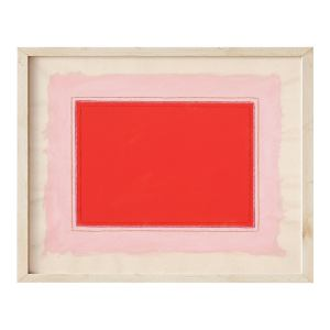 Contemporary Minimalist Modern Red and Pink Fine Art Print, Framed 16 X 20