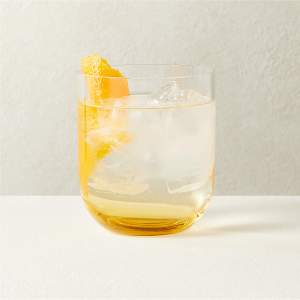 DUVAL AMBER DOUBLE OLD-FASHIONED GLASS