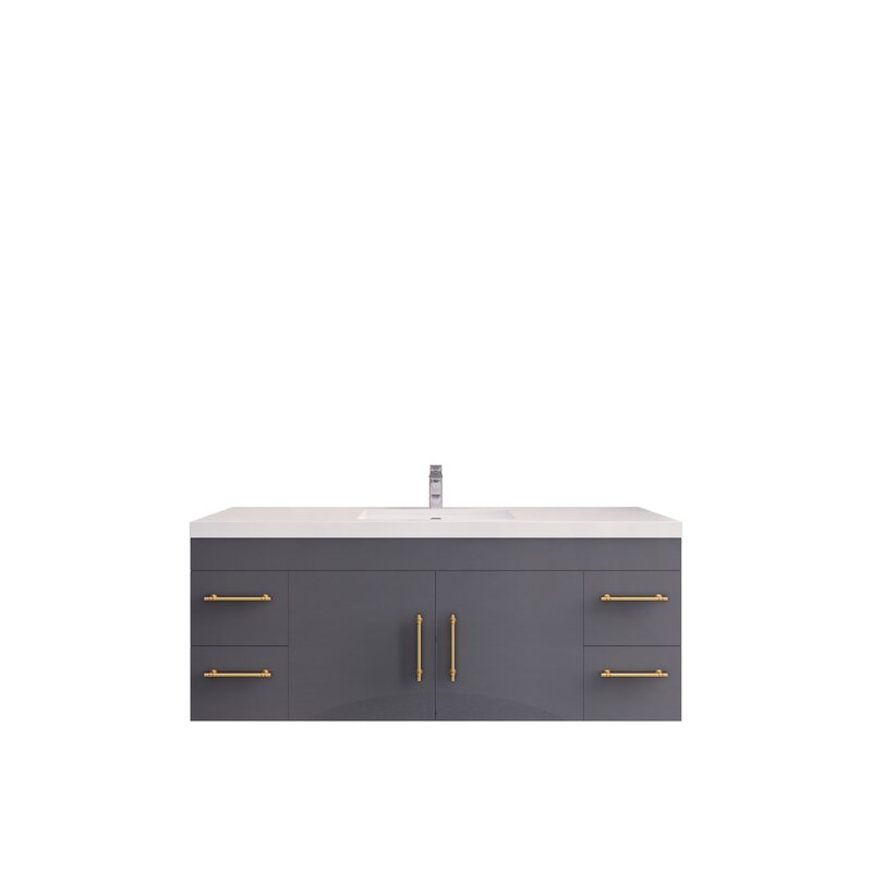 Eliza Wall Mounted Vanity With Reinforced Acrylic Sink-RYELSA60SWH