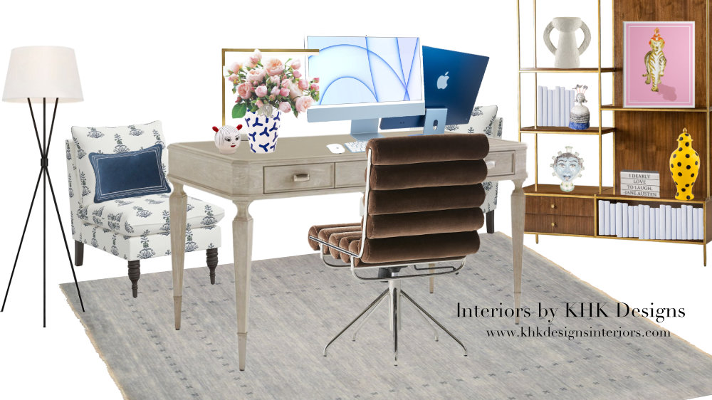 """CHIC HOME OFFICE DESIGN WITH apple's new 24""""iMAC BY KHK DESIGNS"""