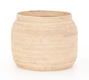 """Round Oliver Woven Basket, Natural - 24"""" X 24"""" X 18.5"""""""