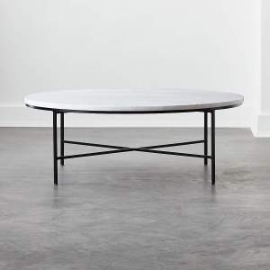 IRWIN WHITE MARBLE COFFEE TABLE MODEL 8713