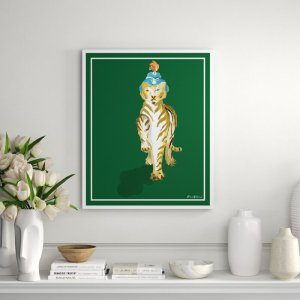 Matilde in Jade by Dana Gibson - Picture Frame Painting Print on Paper