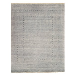 Northome Hand-Knotted Wool Gray Area Rug