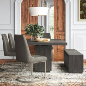 Paralimni 6 - Piece Extendable Solid Wood Dining Set