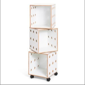 """Perf 65"""" H x 13"""" W Wood Cube Bookcase"""