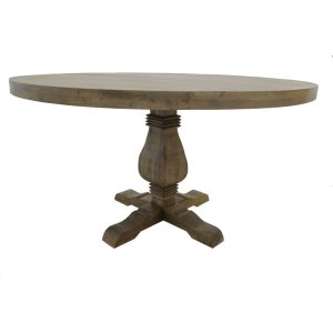 Poole 54'' Mango Solid Wood Pedestal Dining Table