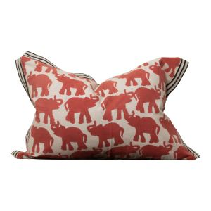 Red Elephant Pillow Cover