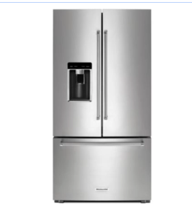KitchenAid 36 Inch Wide 23.8 Cu. Ft. Capacity Counter Depth French Door Refrigerator with PrintShield™ Finish