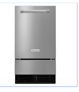 KitchenAid 18 Inch Wide 35 Lbs. Capacity Built-In Ice Maker
