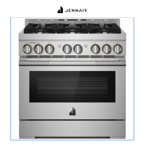 JennAir RISE 36 Inch Wide Slide In Gas Range with Brass Burners