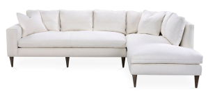 """DIMENSIONS: overall, 118""""W x 80""""D x 33""""H; left-arm sofa, 80""""W x 38""""D x 33""""H; right-arm chaise, 38""""W x 80""""D x 33""""H MADE OF: frame, alder; upholstery, linen; fill, dacron wrapped foam core"""