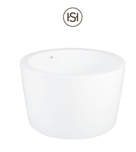"""Siglo 41"""" Free Standing Acrylic Soaking Tub with Integrated Drain and Overflow"""