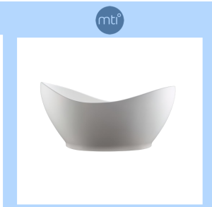 """Finish: Matte White MTI Baths Juliet 72"""" Free Standing SculptureStone Soaking Tub with Center Drain, Drain Assembly, and Overflow"""