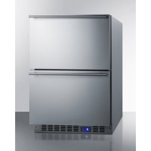 Summit Appliance 3.54 Cubic Feet cu. ft. Frost-Free Undercounter Freezer Drawers with Adjustable Temperature Controls
