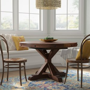 Trevion Extendable Mahogany Solid Wood Pedestal Dining Table