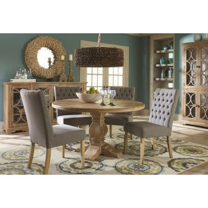 Urias 48'' Mango Solid Wood Pedestal Dining Table