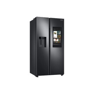 This refrigerator is beautifully designed with a built-in look for a seamless fit. It offers smooth and streamlined exterior design features beautiful flat doors, a minimal display dispenser, and easy to open recessed handles that blend beautifully into your cabinetry, adding function and style to your kitchen. Features  More connected, more control: Discover all the things you can do without ever leaving your kitchen Modern design: Explore features that are not only useful but beautiful. Anchored by a Fingerprint Resistant Finish that blends in with your kitchen, these modern features enhance your kitchen in more ways than one Minimal design: Recessed handles and the display ice dispenser bring elegance and easy access LED Lighting: Beautifully light up your fridge so you can quickly spot what you want In-Door Ice Maker: Produces ice at a high capacity while saving you shelf space for your frozen foods Adjustable Top Shelf: Easily adjusted to fit taller items and provide flexible storage Gallon Door Bins: Provides more shelf space inside the fridge Keep it cool with even air circulation: Multi-vent technology keeps a consistent temperature on every shelf and items evenly cooled Product Details  Product Type: Side by side refrigerator Smudge-Resistant Finish: Yes Installation Type: Built-in Fresh Food Capacity: 14.1 cubic feet