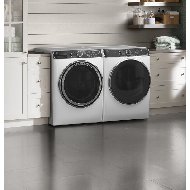 Smart Laundry Appliances GE Appliances 5 Cubic Feet Cu. Ft. Energy Star High Efficiency Smart Front Load Washer with Steam Wash