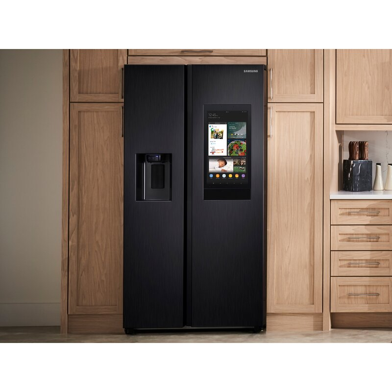 """36"""" Counter Depth Side by Side Energy Star 21.5 cu. ft. Smart Refrigerator with Family Hub"""