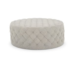 41'' Wide Tufted Round Cocktail Ottoman