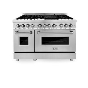"""48"""" 6 cu. ft. Freestanding Dual Fuel Range with Griddle"""