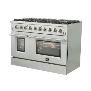 """48"""" 7 cu. ft. Freestanding Gas Range with Griddle"""