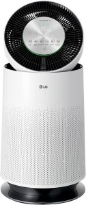 LG PuriCare 360-Degree Single Air Purifier with Clean Booster, ThinQ Wi-Fi and Voice Control (AS330DWR0), 310 sq. ft, White