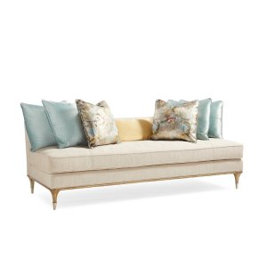 """85.25"""" Armless Sofa with Reversible Cushions"""